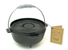 Old Mountain Cast Iron Preseasoned Small 2 QT. Dutch Oven W/Feet Camping  #10113