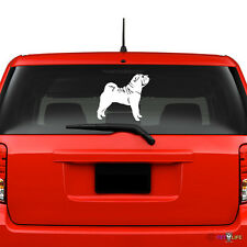 Sharpei Windshield Sticker Vinyl Auto Window v2 shar pei shar-pei