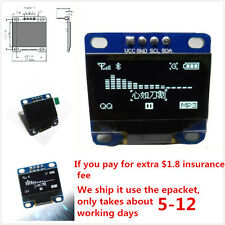 "0.96"" I2C IIC SPI Serial 128X64 White OLED LCD LED Display Module for Arduino WB"