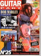 """GUITAR PART #25 """"Bob Marley,De Palmas,Holes,Sepultura,Frank Black"""" (REVUE)"""