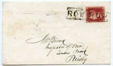 """1859 cubierta con 1d rosa-rojo atado por escaso """"fila Fila"""" escoceses local"""
