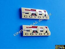 PAIR 5.0 COYOTE FORD MUSTANG F150 BOSS 302 EMBLEM BADGE FENDER TAILGATE REAR NEW