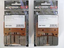 ZCOO 2 COPPIE PASTIGLIE FRENO ANTERIORE EX PER HONDA CBR RR 600 2007 2008 2009