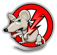 """No Rats Ban Stop Sign Car Bumper Sticker Decal 5"""" x 5"""""""