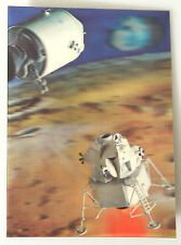 (PRL) PK-55 LUNAR MODULE CARTOLINA 3D POSTCARD CARTE POSTALE VINTAGE COLLECTION