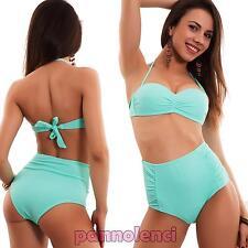 Bikini de mujer traje baño banda talle alto '50 perno up dos piezas nuevo B5141
