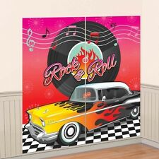 Amscan 50's Style Party Decoration Scene Setter Rock & Roll Grease Vinyl 671276