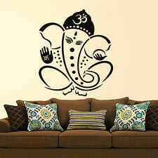 Wall Stickers Wall Decals Pious Black Lord Ganesha Design