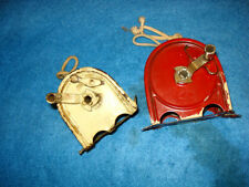Set Of Two  Vintage Double Rope Retractable Clothes Line Dispensers With Rope