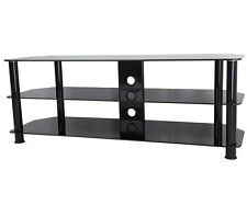 Black Gloss Glass TV Stand Suitable For LCD LED TVs 20 40 42 47 50 55 60""