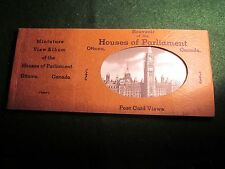 Vintage Miniature Postcard View Album of Ottawa Canada Houses of Parliament
