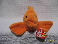 RARE TY BEANIE BABY, GOLDIE THE GOLDFISH,RETIRED 1994, 3 ERRORS, PVC PELLETS