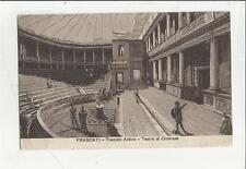 79966 VECCHIA CARTOLINA DI FRASCATI tuscolo antico teatro di cicerone 1909