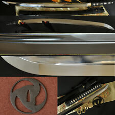 Japanese Samurai Sword Katana Oil Quenched 1095 Steel Double Blood Groove Sharp