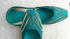 GREEN  LADIES INDIAN WEDDING PARTY KHUSSA SIZE 8