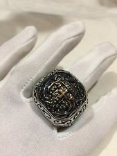 Vintage Large Stainless Steel Cross Crest Size 9 Men's Ring