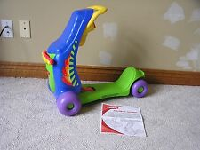 PLAYSKOOL RIDE2ROLL SCOOTER Includes Instructions