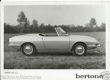 BERTONE FIAT SPIDER 850 CL ORIGINALE Stampa Fotografia alto in basso
