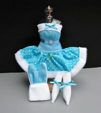 """Bunny rabbit Costumes Blue outfit Fancy for Barbie, Dolls 12"""" Dress up clothes"""