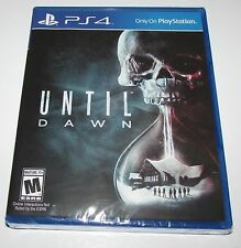 Until Dawn for Playstation 4 Brand New! Factory Sealed!