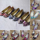 New Womens Ballerina Ballet Dolly Pumps Ladies Flower Flat Shoes Size UK 3-7.5