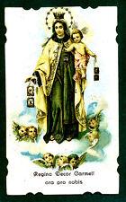 Santino ANTICO REGINA DECOR CARMELI cromo IMAGE PIEUSE - HOLY CARD Santini