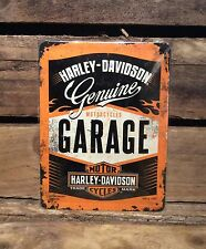 Harley Davidson Garage medium Vintage Retro Tin Signs. Motorcycles