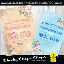10 Personalised Birthday/Christening /Invitations/Thank You Cards/Boy/Girl - C12