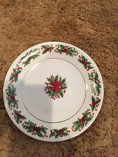 "Lynns Fine China ""Holly Wreath""""Dessert Plate-7 1/2"" Diameter"