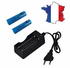 CHARGEUR  + 2 PILES ACCU RECHARGEABLE 18650 3.7v 5000 mAh ULTRAFIRE