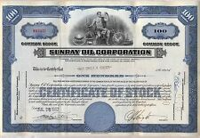 Sunray Oil Company Stock Certificate Gas DX
