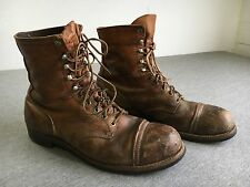 RED WING Boots Vintage Brown Leather Iron Ranger Steel Cap Toe Work USA Men 12