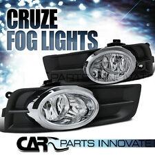 Chevy 11-14 Cruze Clear Lens Bumper Fog Lights Driving Lamps+Bulb+Switch