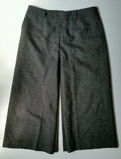 Pendleton USA TWEED PLAID Culottes Palazzo Cropped Wide-Leg Gaucho Pant Lined 12
