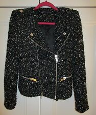 ZARA fantasy boucle tweed jacket - small(UK8-10) - sequin blazer - celeb blogger