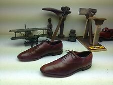 MADE IN ENGLAND COGNAC BROWN LEATHER LACE UP OXFORD SATURDAY SHOES SIZE 10.