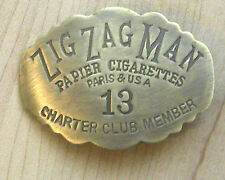 ZIG ZAG MAN SOLID BRASS BADGE
