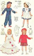 "VINTAGE 13.5"" RED CROSS UNIFORM FITS LITTLE LADY DOLL CLOTHES PATTERN 1015"