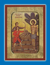 Orthodox Icon Of St. Sebastian the Martyrdom 18x24 cm