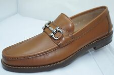 Salvatore Ferragamo Mens Brown Shoes Loriano Size 7.5 Loafers Drivers NIB