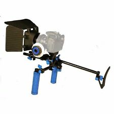Camcorder DSLR Shoulder Mount Rig Support 2 Hand & Follow Focus & Matte Box
