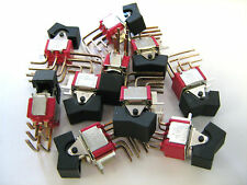 C&K 7201 Mini Rocker Switch DPDT On-On Mount 2 Position - Lot of 10 Pcs / TESTED