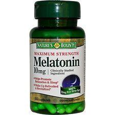 Nature's Bounty MAX Strength Melatonin 10 MG 60 capsules