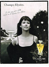 PUBLICITE ADVERTISING 084  1996  GUERLAIN  par SOPHIE MARCEAU CHAMPS ELYSEES