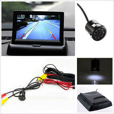 IR Night Vision 170° Car Reverse Backup CCD Camera Foldable HD Monitor For Honda