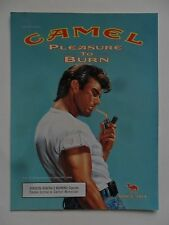 2000 Print Ad Camel Cigarettes ~ T-Shirt Tough Guy Pleasure to Burn ART