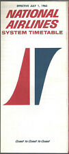 National Airlines system timetable 7/1/65 [6123]