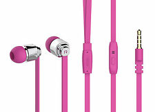 In-Ear Stereo Headphone Headset For Tablets, iPod, MP3, MP4, Players PINK