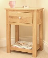 Conran solid oak furniture side end lamp storage table cabinet unit