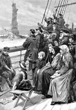 Jewish refugees from Russia arriving in New York Harbour 1892  Poster Print
